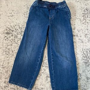 Hanna Andersson jeans pull on comfy 6 - 7 years